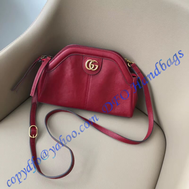 22974cb68f1a Gucci RE(BELLE) Small Shoulder Bag in Red Leather