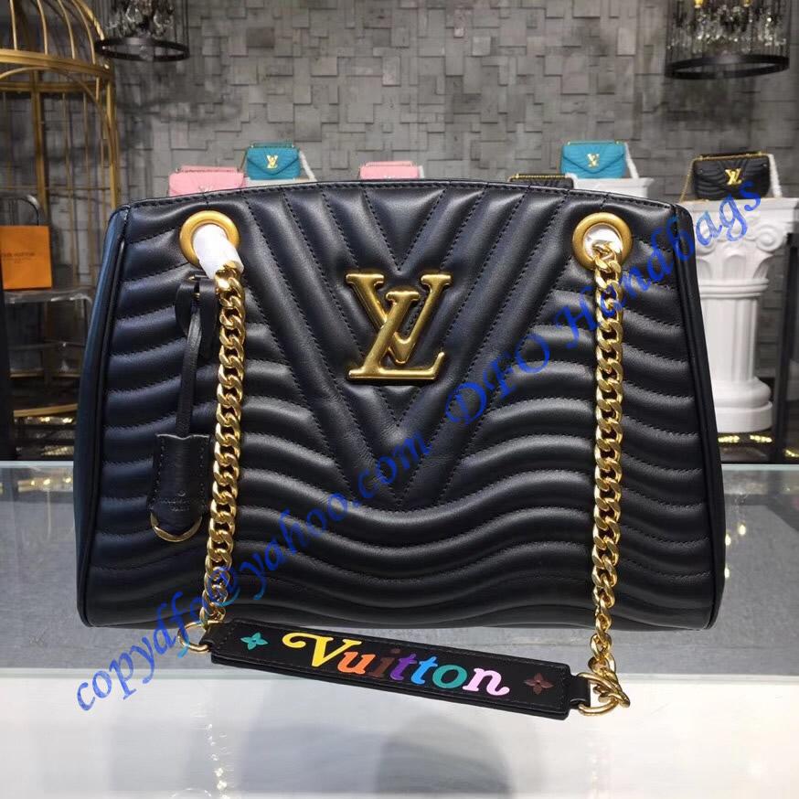Louis Vuitton New Wave Chain Tote Noir M51496